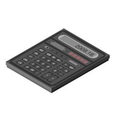 Calculator icon isometric style vector