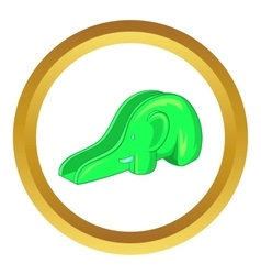 Childrens slide elephant icon vector
