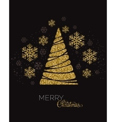 Christmas tree greeting vector image