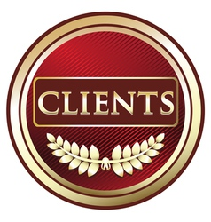 Clients Red label vector image