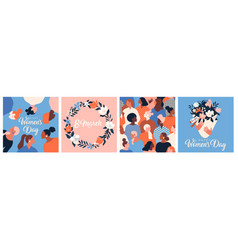 Collection greeting card or postcard templates vector
