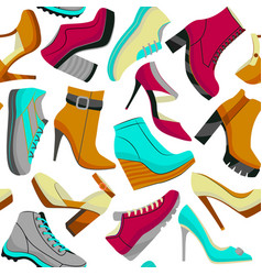colorful seamless shoe pattern vector image