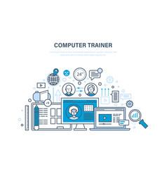 computer trainer personal trainer online vector image