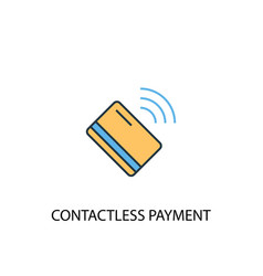 Contactless payment concept 2 colored icon simple vector