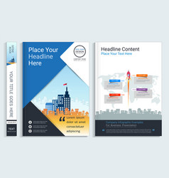 Corporate cover book design template vector