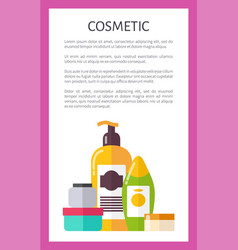 cosmetic card various vials vector image