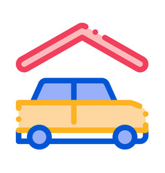 covered parking icon outline vector image