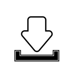 download arrow icon vector image
