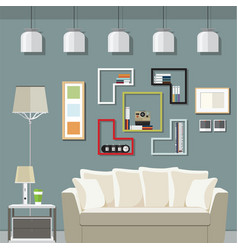 elegant living room vector image