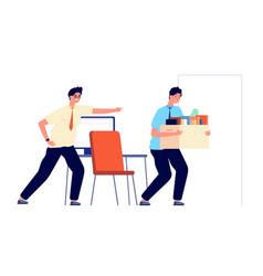 employee dismissal office worker unemployment vector image