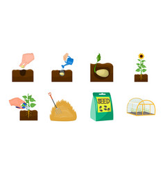 Farm and agriculture icons in set collection for vector