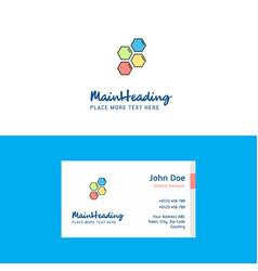 flat shells logo and visiting card template vector image