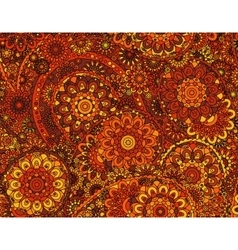 Flower paisley seamless ethnic pattern vector