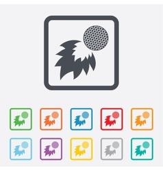 Golf fireball sign icon Sport symbol vector