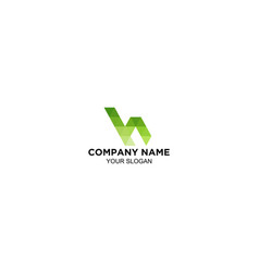 H matric logo design vector