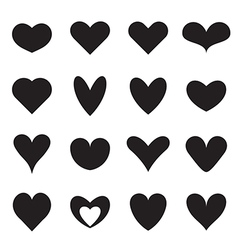 Heart symbol shapes vector