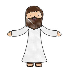 holy jesuschrist character icon vector image