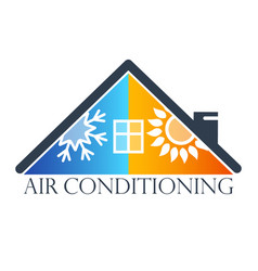 House air conditioner symbol vector