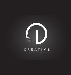 i circular letter logo with circle brush design vector image