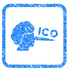 Ico lier framed grunge icon vector