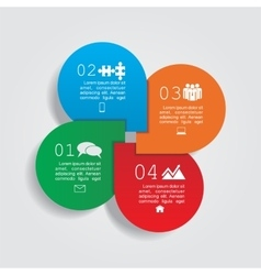 infographic design template with elements vector image