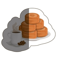Isolated bread and coffee mug design vector