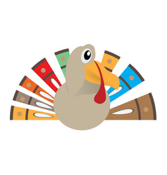 Isolated comic turkey vector