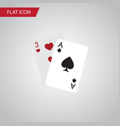 isolated gambling cards flat icon ace vector image