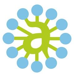 Letter A network logo vector image