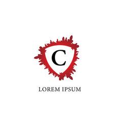 Letter c alphabet logo design template splash of vector