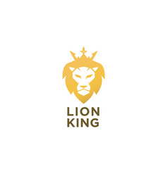Lion king logo vector