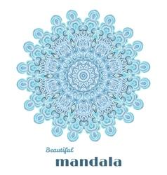 Mandala abstract lace design vector
