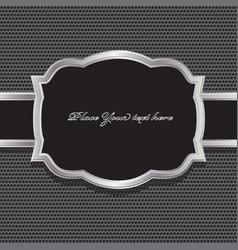 metal background vector image