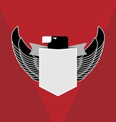 Military emblem eagle vector image