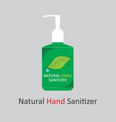 natural hand sanitizer bottle graphic design vector image