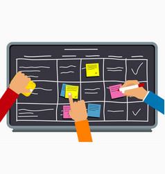 office team planning board vector image