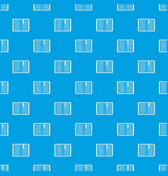 Open tutorial with bookmark pattern seamless blue vector