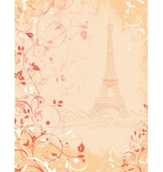 Paris background with the Eiffel tower vector