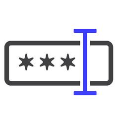 Password field flat icon symbol vector