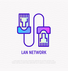 patch cable thin line icon vector image
