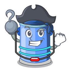 Pirate cylinder bucket cartoon of for liquid vector