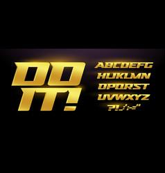 premium golden font premium cursive sport vector image