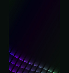 Purple green abstract pixel curve background vector