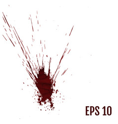 realistic blood splatters splash liquid stain ink vector image