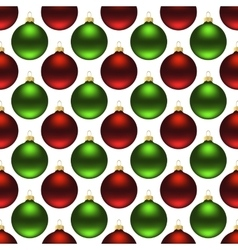 Seamless christmas balls vector