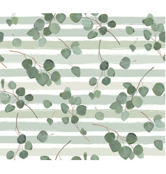 seamless pattern of eucalyptus silver dollar tree vector image