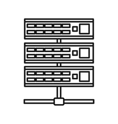 Servers icon outline style vector image