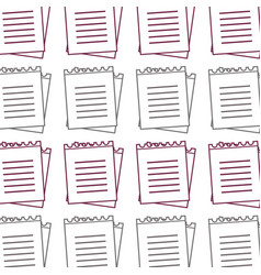 Silhouette paper notebook study education vector