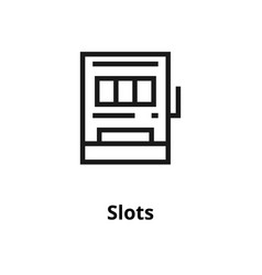 Slots line icon vector