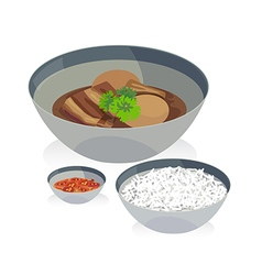 Stewed egg vector